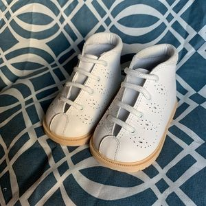 Other - White Leather Baby Boots